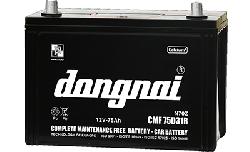 Ắc quy Đồng Nai khô dùng cho ô tô 12V-75Ah (CMF75D31 R/L)