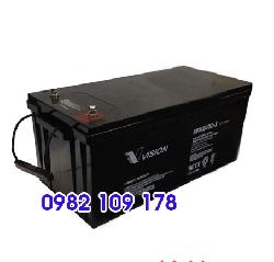 Ắc quy Vision 12V-200Ah 6FM200D-X chuyên dụng cho năng lượng mặt trời