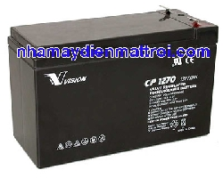 Bình Ắc quy Vision 12V-7Ah (CP1270)