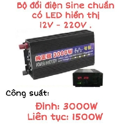 Bộ chuyển đổi điện sin chuẩn 3000w 12v
