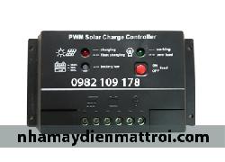 Bộ điều khiển sạc Năng lượng mặt trời 20A màu đen12V/24V auto (PWM20-DEN)