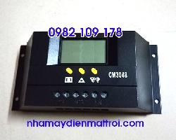 Bộ điều khiển sạc năng lượng mặt trời PWM 30A 48V CM3048 màu đen