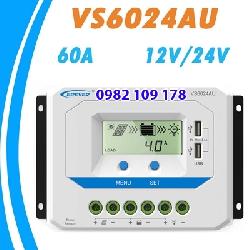 Điều khiển sạc năng lượng mặt trời 60A 12v-24v auto VS6024AU