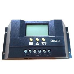Điều khiển sạc NLMT PWM 30A 12v/24v auto LCD