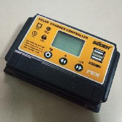 Điều khiển sạc PWM 30a LCD hãng Suoer