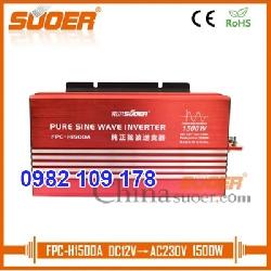 Inverter chuyển điện sin chuẩn 1500w 12V lên 220V hiệu suất cao