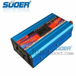Inverter chuyển đổi điện 1200W 12V sang 220V chống ngược cực có hiển thị - SAA-D1200AF