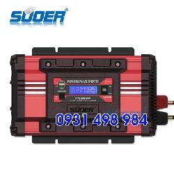 Inverter sin chuẩn 1000w 12v có màn hình hiển thị hãng Suoer