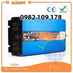 kích điện 12v lên 220v 2000W sin chuẩn Suoer FPC-2000A